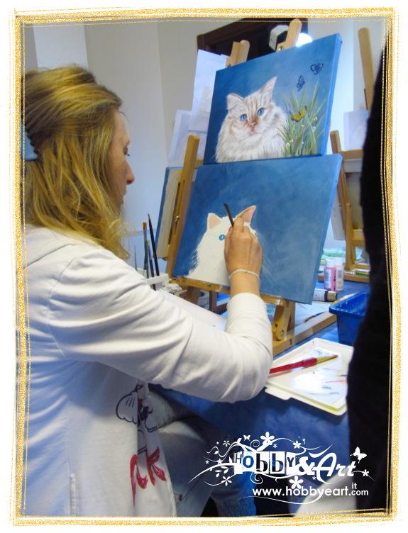 Stai visualizzando le foto inerenti l'articolo: Sabrina Pedron - Il Gatto in acrilico - Reportage